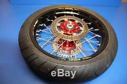 00-18 DRZ400SM DRZ400S DRZ400E Supermoto Convert Wheel Set Excel Rims 17 Setup