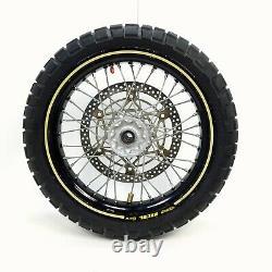 05-20 Suzuki DRZ400SM DRZ400 17 BLACK Front Rear Supermotor Wheel Set BA