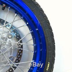 07-19 Suzuki DRZ400SM DRZ400 17 Blue Excel Supermoto Front Rear Wheel Set EQ
