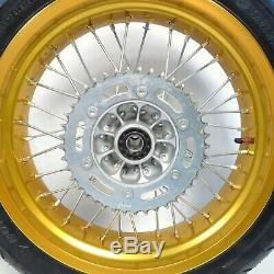 07-20 Suzuki DRZ400SM DRZ400 17 Gold Excel Supermoto Front Rear Wheel Set DL