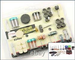 105pc Rotary Drill Bit Die Grinder Stone Buffing Polish Grinding Dremel Tool Set