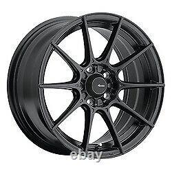 15x8 Advanti Racing 79B Storm S1 Matte Black Wheels 4x100 (25mm) Set of 4