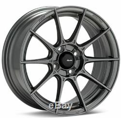 15x8 Advanti Racing Storm S1 4x100 ET25 Matte Grey Wheels (Set of 4)