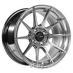 15x9 Advanti Racing 79H Storm S1 Titanium Wheels 4x100 (35mm) Set of 4
