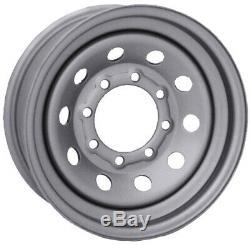 16x6 Vision HD HM70 8 Spoke 8x6.5/8x165.1 0 Silver Wheels Rims Set(4)