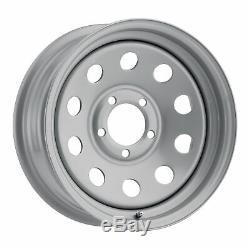 16x6 Vision HD HM70 8-Spoke Steel Silver Wheels 6x5.5 (0mm) Set of 4