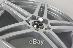 16x7 Enkei RSF5 4x100 +38 Silver Machined Wheels (Set of 4)