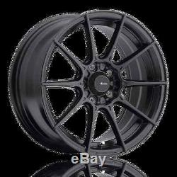 17X8 Advanti Racing Storm S1 4X100 +35 Matte Black Wheels (Set of 4)