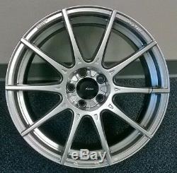 17X8 Advanti Racing Storm S1 4X100 +35 Silver Wheels (Set of 4)
