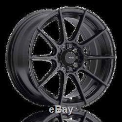 17X8 Advanti Racing Storm S1 5X108 +45 Matte Black Wheels (Set of 4)