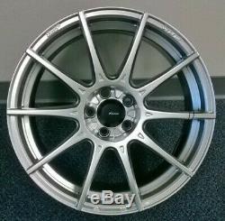 17X8 Advanti Racing Storm S1 5X112 +35 Silver Wheels (Set of 4)