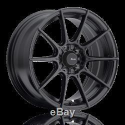 17X8 Advanti Racing Storm S1 5x114.3 +45 Matte Black Wheels (Set of 4)