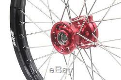 17 / 14 Kid's Small Wheel Set Fit Honda Oem Size Crf150r 07-18 Riim Red Cnc Hub