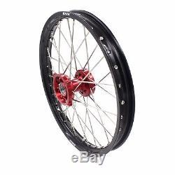 17/14 Kid's Small Wheels Rims Set Fit Honda Cr80r 1993-2002 Cr85r 2003-2008 Red