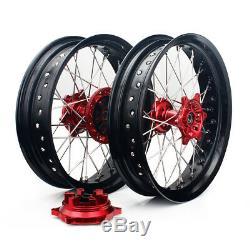17 & 17 Complete Front Rear Wheel Set Cush Drive Suzuki DRZ400SM 05-18 DRZ400E