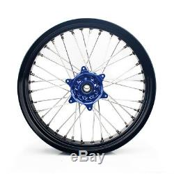 17&17 Supermoto Complete Wheel Set Suzuki DRZ400SM 05-17 DRZ400E/S Cush Drive