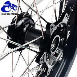 17 & 17 Supermoto Spoked Wheel Set Rims Hub Cush Drive DRZ400SM 05-17 DRZ 400