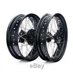 17 & 17 Supermoto Wheel Set Rims Hub Cush Drive DRZ400SM 05-17 DRZ400E DRZ400S