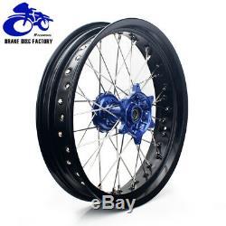 17 Supermoto Complete Spoked Wheel Set Hubs Rotors Cush Drive DRZ400SM 05-17