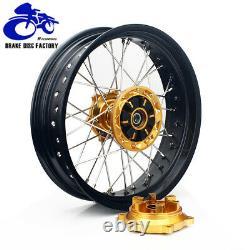 17 Supermoto Wheel Rim Hubs Rotors Cush Drive Set For Suzuki DRZ400SM 2005-2020