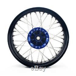17 Supermoto Wheel Set for Suzuki DRZ 400 00-04 DRZ400S/E 00-07 DRZ400SM 05-18