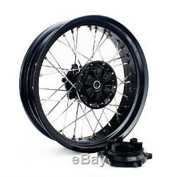 17'' x 17'' MX Black Hubs Wheels Rims Set for Suzuki DRZ400 00-04 DRZ 400 E S SM