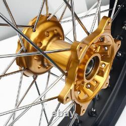 17x3.5 Supermoto Front Wheel Rim Hub Set For Suzuki DRZ400SM 00-20 DRZ400/E/S