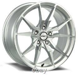 17x7.5 Shift H29 Blade 5x114.3 35 Silver Machine Wheels Rims Set(4) 72.6