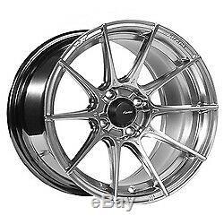 17x8 Advanti Racing 79S Storm S1 Hyper Silver Wheels 4x108 (45mm) Set of 4