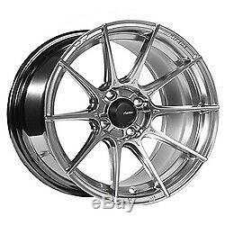 17x8 Advanti Racing 79S Storm S1 Hyper Silver Wheels 5x112 (35mm) Set of 4