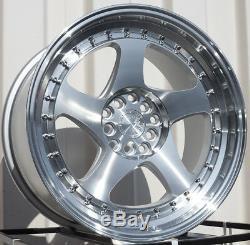 17x9 AodHan AH01 5x100/114.3 +25 Silver Machined Face Rims Wheels (Set)