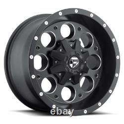 17x9 Fuel D525 Revolver Fuel AT Wheel and Tire Package Set 8x170 Ford F250 F350