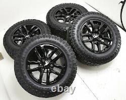18 Chevrolet Silverado 1500 Gloss Black Wheels Rims Tires Factory Oem Set 5912