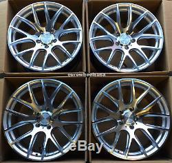 18 ESR SR12 Wheels 18x9.5 +22 5x120 Concave Machined Silver (Rims Set of 4)