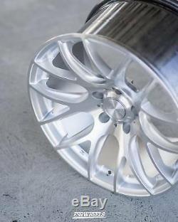 18 ESR SR12 Wheels Silver Machined 18x8.5 +35 5x112 (Set of 4)