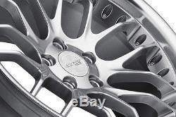 18 Mesh MRR GT7 Wheels 18x8.5 +35 / 18x9.5 +40 5x120 Staggered Rims Set (4)