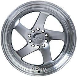 18x10.5 F1R F28 5x100/114.3 +20 Machined Gold Wheels (Set of 4)