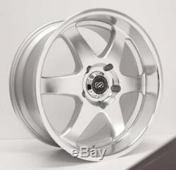 18x8.5 Enkei ST6 6x139.7 10 Silver Machined Wheels Rims Set(4)