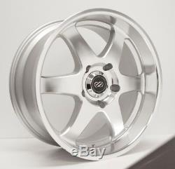 18x8.5 Enkei ST6 6x139.7 +20 Silver Machined Wheels Rims Set(4)