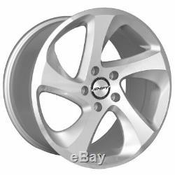 18x8.5 Shift H22 Strut 5x112 35 Silver Machine Wheels Rims Set(4)