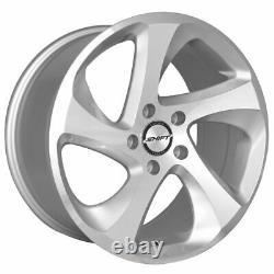 18x8.5 Shift H22 Strut 5x114.3 35 Silver Machine Wheels Rims Set(4) 73.1