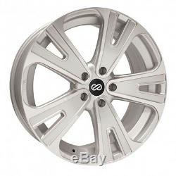 18x8 Enkei SVX 5x127 +50 Silver Machined Wheels (Set of 4)