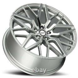 18x8 Shift H33 Spring 5x114.3 35 Silver Machine Wheels Rims Set(4) 73.1