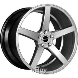 18x8 Silver Machine Wheels Strada S35 Perfetto 5x114.3 40 (Set of 4)