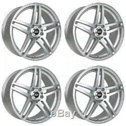 18x8 Silver Machined Wheels Enkei RSF5 5x114.3 50 (Set of 4)