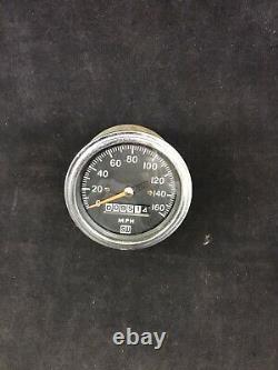 1960's Stewart Warner 160mph Mechanical Speedometer Gauge 3-3/8 WORKS