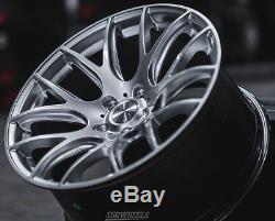19 ESR SR12 Machined Silver Wheels 5x120 19x9.5 +22 (Rims Set 4)