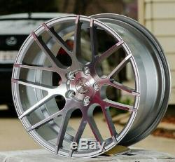 19 Silver Ground Force Gf7 Concave Staggered Wheels Rims Set Fit Bmw E85 E89 Z4