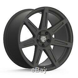 19x10.5 Centerline 670B SM1 Rev 7 Satin Black Wheels 5x4.5 (45mm) Set of 4