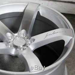 19x8.5 / 19x9.5 5x120 MRR VP5 Silver 19 Inch Wheels Rims Set Fits BMW E46 M3